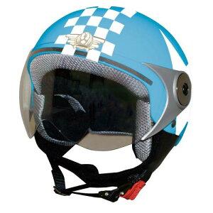 ジュニア用 ヘルメット 【DAMMTRAX[ダムトラックス]】 ダムキッズ ポポGT ブルー 青/STAR バイク用 子供用 キッズ ヘルメット
