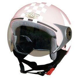 ジュニア用 ヘルメット 【DAMMTRAX[ダムトラックス]】 ダムキッズ ポポGT ピンク/STAR バイク用 子供用 キッズ ヘルメット