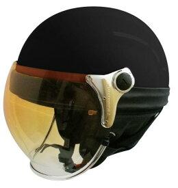 【DAMMTRAX[ダムトラックス]】 バブルビーハーフ パールブラック バイク用 ヘルメット