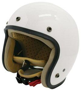 ヘルメット【DAMMTRAX[ダムトラックス]】 JET-D ジェットディー パールホワイト / 白 メンズ 男性用 バイク用 ヘルメット