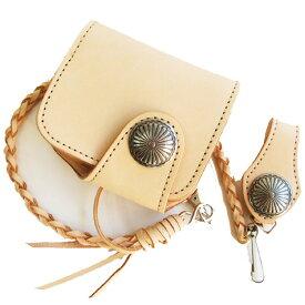 LIBERTY 小さい財布 二つ折りサイドコインウォレット革財布 皮ひもコンチョセット- 財布 さいふ サイフ 新品 メンズ