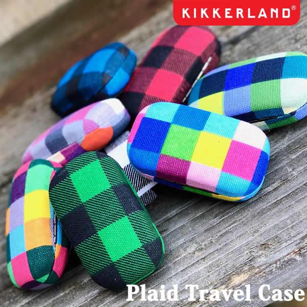 Plaid Travel Case プレイドトラベルケース 携帯用 小物入れ ピルケース アクセサリー DETAIL キッカーランド