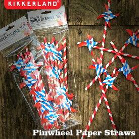 Pinwheel Paper Straws ピンホイールペーパーストロー 6本入 紙 エコ KIKKERLAND DETAIL