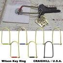 WilsonKeyRingウィルソンキーリングエナメル6色+カーボンブラックキーホルダーCRAIGHILLアメリカブルックリンDETAIL