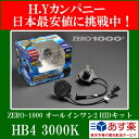 【送料無料】HIDキット ZERO1000 オールインワン タイプ2 HID HB4 3000K 2年保証