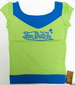スーパーSALE ポイント10倍 洋服 von-t-015 Von Dutch 綺麗colerロゴT グリーンM 女性用 レディース Tシャツ Mサイズ ギフト クリスマスプレゼント