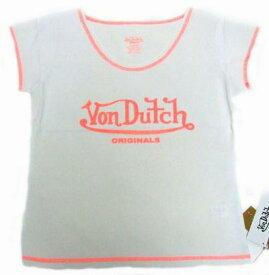 スーパーSALE ポイント10倍 NEW von-t-019 Von Dutch スポーツ素材Tシャツ ホワイトS 女性用 レディース Tシャツ Sサイズ ギフト クリスマスプレゼント
