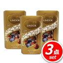 ★3パックセット★リンツ リンドール ゴールド (593410) 4種類のトリュフチョコレート 【ミルク・ホワイト・ダーク・…