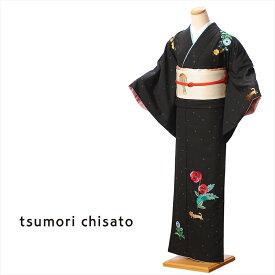 【レンタル】訪問着 レンタル 着物 ツモリチサト tsumori chisato レンタル訪問着 貸衣装 黒 ブスネコ レンタルフルセット8AD82 149cm〜167cm位まで 足袋・肌着プレゼント 往復送料無料