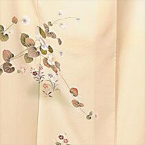 正絹訪問着レンタルフルセット8AD230【着物】【レンタル】【訪問着】[結婚式][パーティ][入学式][卒業式][七五三][季節草木花][クリーム][150cm〜170cm位まで]足袋・肌着プレゼント★往復送料無料★