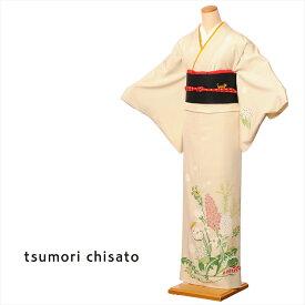 ツモリチサト tsumori chisato 訪問着 レンタル 着物レンタル レンタル着物 着物 訪問着レンタルフルセット 正絹 お呼ばれ ベージュ ステッチフラワー 150cm〜170cm位まで 足袋 肌着プレゼント 8AD262