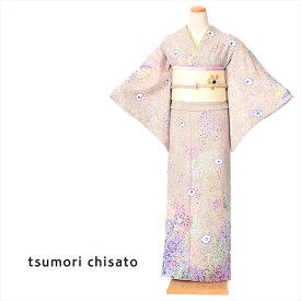 【レンタル】 ツモリチサト tsumori chisato 訪問着 レンタル 着物 正絹訪問着レンタルフルセット8AD304 正絹 レンタル訪問着 お呼ばれレンタル 薄紫 サンドストーム 150cm〜170cm位まで 足袋・肌着プレゼント