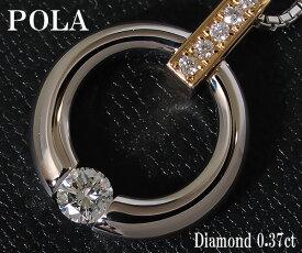 【中古】ポーラ ダイヤモンド ネックレス PT/750YG【送料無料】【質屋出店】