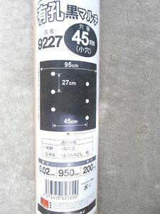 シンセイ 国産 有孔黒マルチ 9227 穴径45mm 【時間指定不可】
