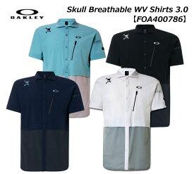【◆】【FOA400786】オークリー Skull Breathable WV Shirts 3.0 メンズ ゴルフ ウェア 半袖シャツ OAKLEY【2020年春夏モデル】【即納可】