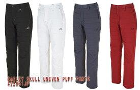 【◆】【2019年秋冬モデル】オークリーSKULL UNEVEN PUFF PANTS【422651JP】 OAKLEY 中綿パンツ 【即納可】