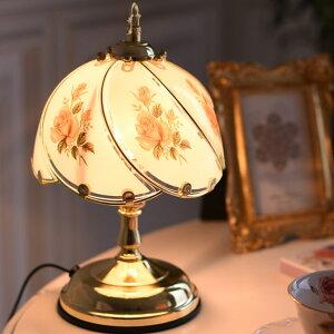 ▲予約:10月末入荷予定▲ テーブルランプ おしゃれ アンティーク かわいい 薔薇のエレガントランプ 調光 タッチセンサー 照明 レトロ ベッドサイド ライト 卓上 スタンドランプ ヨーロピア