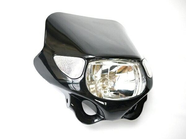 ヘッドライトマスク ウインカー付黒TZR250R TTR DTトリッカーセロー250ブロンコWR GN125バンバン200ボルティDR250 RMX250S DRZ400SM DF200ジェベルグラストラッカーST250E 250SB KSR2 KSR110 KDX220 250TR Dトラッカー125 KLX250 SUZUKIスズキKAWASAKIカワサキ