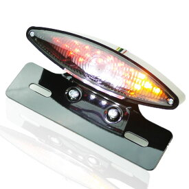 ウインカー付 LEDスネークアイテール BスポーツスターダイナエボソフテイルショベルTC88 FXDL FXDX FXSTC XL883 XL1200 S1 M2 X1ライトニングXB9 XB12RフサベルハスクバーナKTMトライクATVミニモトピット