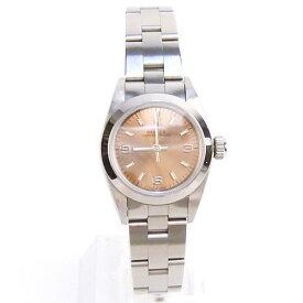 【ROLEX ロレックス】美品 67180 オイスターパーペチュアル ブラウンピンク文字盤 自動巻き レディース 腕時計【中古】