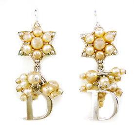 【Christian Dior クリスチャン・ディオール】良品 星 フェイクパール ピアス【中古】