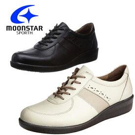 moonstar/ムーンスター SPORTH/スポルス 婦人靴 国産 本革 革靴 コンフォートシューズ ワイド設計 4E 内側ファスナー 軽量設計 足なり設計 撥水加工 SP5020 あす楽対応_北海道 BOS