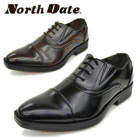 North Date/ノースデイト/ノースデート メンズ 紳士靴 ビジネスシューズ 防滑 鉄ピン ピンスパイク スチールピン 防水 雪道対応 合皮 4E ストレートチップ ND309 あす楽対応_北海道 BOS 在庫一掃