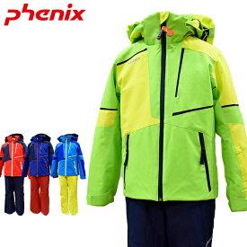 フェニックス phenix キッズ ジュニア スキーウェア スキー スノーボード 雪遊び 上下セット 130 140 150 160 Asymmetry Block Boy's Two-piece PSAG22P82 あす楽対応_北海道【PDN】
