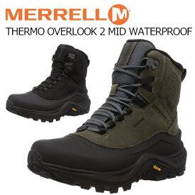 メレル メンズ ブーツ 冬 靴 シューズ MERREL THERMO OVERLOOK 2 MID WATERPROOF サーモ オーバールック 2 ミッド ウォータープルーフ J035287 J035289 防滑 滑らない 滑りにくい ウインター スノー BOS あす楽対応_北海道
