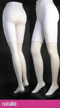 国産素材日本製■スパッツ白3分丈ML〜JML■オフ白綿80%レディースレギンススポーツウェアーヨガウエアヨガパンツフィットネスボトムエアロビクスズンバジャズダンス舞踊社交ダンスピラティスエクササイズに最適メール便可
