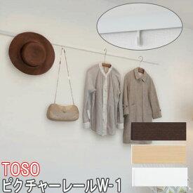TOSO/トーソー製 ピクチャーレール/W-1 サイズオーダー/正面付け/カラー:ホワイト/51〜100cm