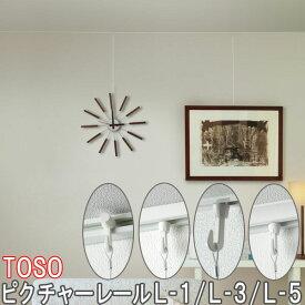 TOSO/トーソー製 ピクチャーレールL-1 サイズオーダー/後付け用/151〜200cm
