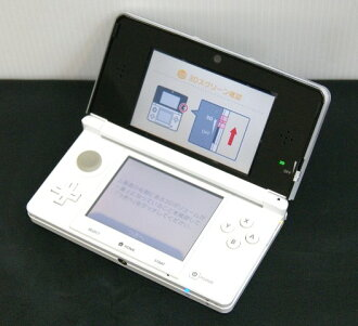 It is 3DS body soot with the beautiful article CTR-001 (JPN) NINTENDO3DS  Nintendo 3DS white (white) CTR-P-AMKJ (JPN) 3DS-083 steering wheel with the