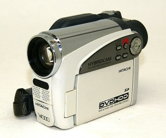 【中古】迅速発送+送料無料+動作保証!値引交渉歓迎! HITACHI 日立 DZ-HS401(W) ロイヤルホワイト WOOO ハイブリッドビデオカメラ(8cmDVD/HDD/SDビデオカメラ) HDD:8GB リモコン欠品【@YA管理1-53-80219232】