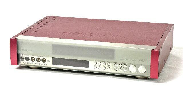 【中古】迅速発送+送料無料+動作保証!値引交渉歓迎! 《美品》 TOSHIBA 東芝 デジタルアリーナ A-HD2000R ヴィンテージレッド(数量限定モデル) D-VHSビデオデッキ(D-VHS/S-VHS HiFiビデオデッキ) リモコン代替品【@TA管理1-53-18360606】