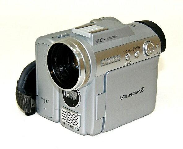 【中古】迅速発送+送料無料+動作保証!値引交渉歓迎! SHARP シャープ VL-Z75-S シルバー デジタルビデオカメラ ミニDV方式 リモコン欠品【@YA管理1-53-1124272】