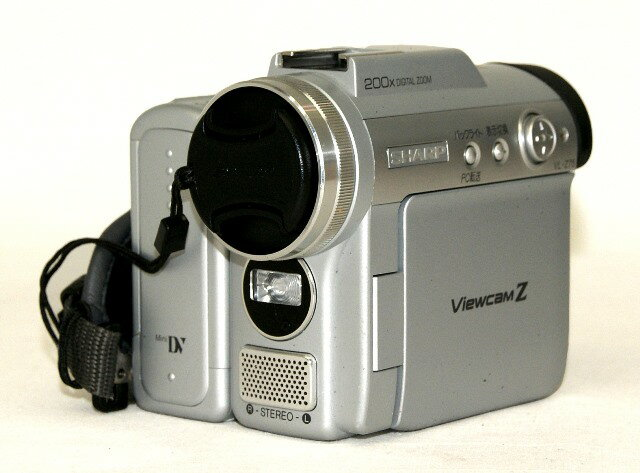 【中古】迅速発送+送料無料+動作保証!値引交渉歓迎! SHARP シャープ VL-Z75-S シルバー デジタルビデオカメラ ミニDV方式【@YA管理1-53-6111252】