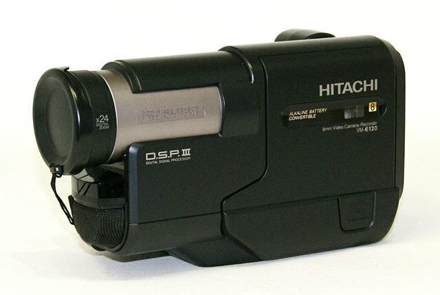 【中古】迅速発送+送料無料+動作保証!! HITACHI 日立 VM-E120 8ミリビデオカメラ(Video8/8mm) スタンダード8ミリ方式【@YA管理1-53-61028144】