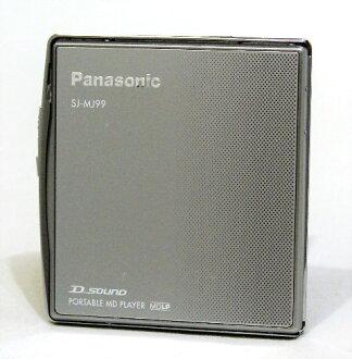 迅速的发送+!!只支持只1分早的者胜利<戎克品>Panasonic松下SJ-MJ99-S银子手提式MD播放器(MD再生机)MDLP的本体