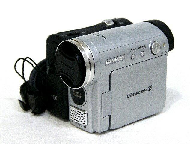 【中古】迅速発送+送料無料+動作保証!! <<ランクAの美品で付属品ほぼ完備>> SHARP シャープ VL-Z5-S シルバー デジタルビデオカメラ ミニDV方式【@YA管理1-53-6115253】