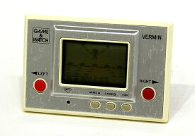 【中古】迅速発送+送料無料+動作保証!値引交渉歓迎! Nintendo MT-03 バーミン(VERMIN) GAME&WATCH ゲーム&ウォッチ(ゲームウォッチ)シルバーシリーズ 本体のみ(アラーム機能なし)【@YA管理1-8-NOVE】