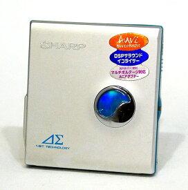 【中古】迅速発送+送料無料+動作保証!! SHARP シャープ MD-DS30-S シルバー 1-BIT ポータブルMDプレイヤー MDLP対応【@YA管理1-53-30903701】