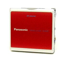 【中古】迅速発送+送料無料+動作保証!! Panasonic パナソニック SJ-MJ59-R レッド ポータブルMDプレーヤー(MD再生専用機) MDLP対応【@YA管理1-53-FD4IA006296】