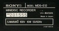 【中古】迅速発送+送料無料+動作保証!!SONYソニーMDS-E12ブラック業務用MDレコーダー(MDデッキ)MDLP対応リモコン欠品【@YA管理1-53-201555】
