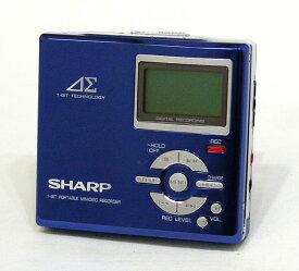 【中古】迅速発送+送料無料!! 《訳あり(一部保証対象外)》 SHARP シャープ MD-DR7-A ブルー ポータブルMDレコーダー (MD録音再生機) MDLP対応【@YA管理1-53-30718550】