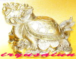 銅製風水金運龍亀