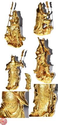銅製開運関羽様像