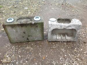 墓石 古香炉・花立・石材処分