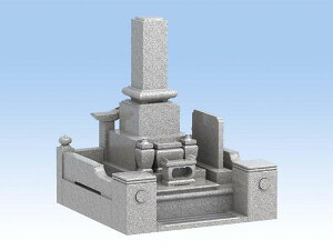 墓石 セット墓石(白御影石)送料有料