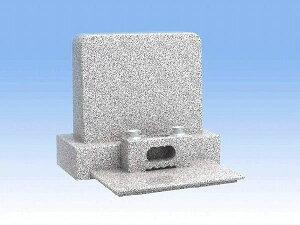 墓石 デザイン洋型二段の(白御影石)